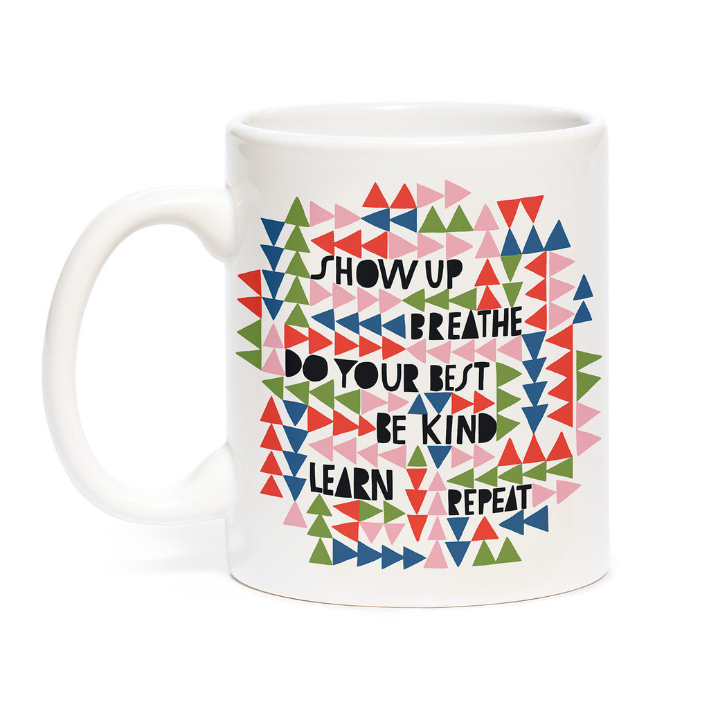 Lisa Congdon Show Up, Breathe Mug
