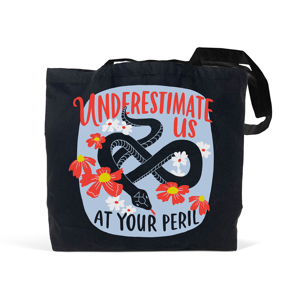 Emily McDowell & Friends Underestimate Us Black Tote Bag