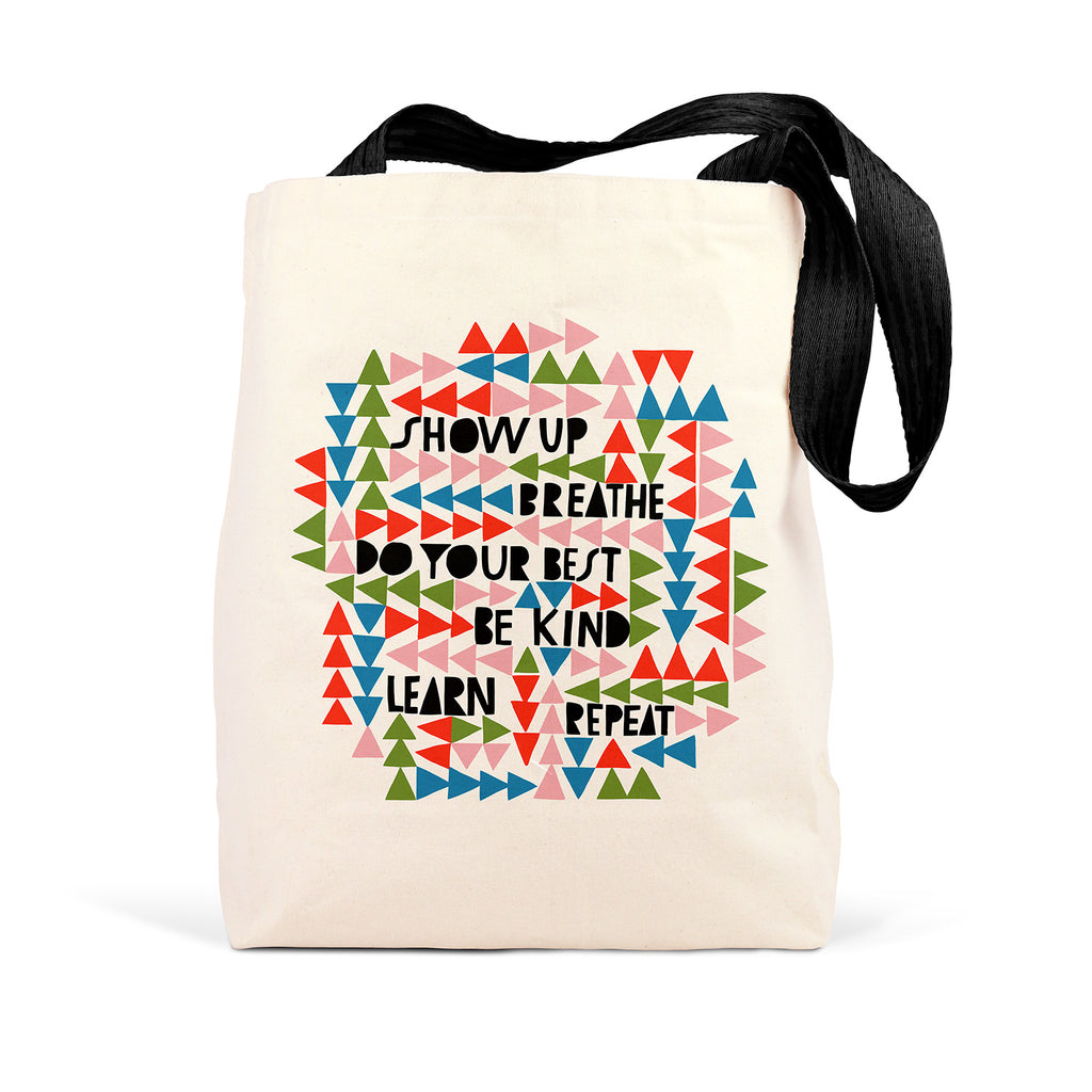 Lisa Congdon Show Up, Breathe Tote Bag