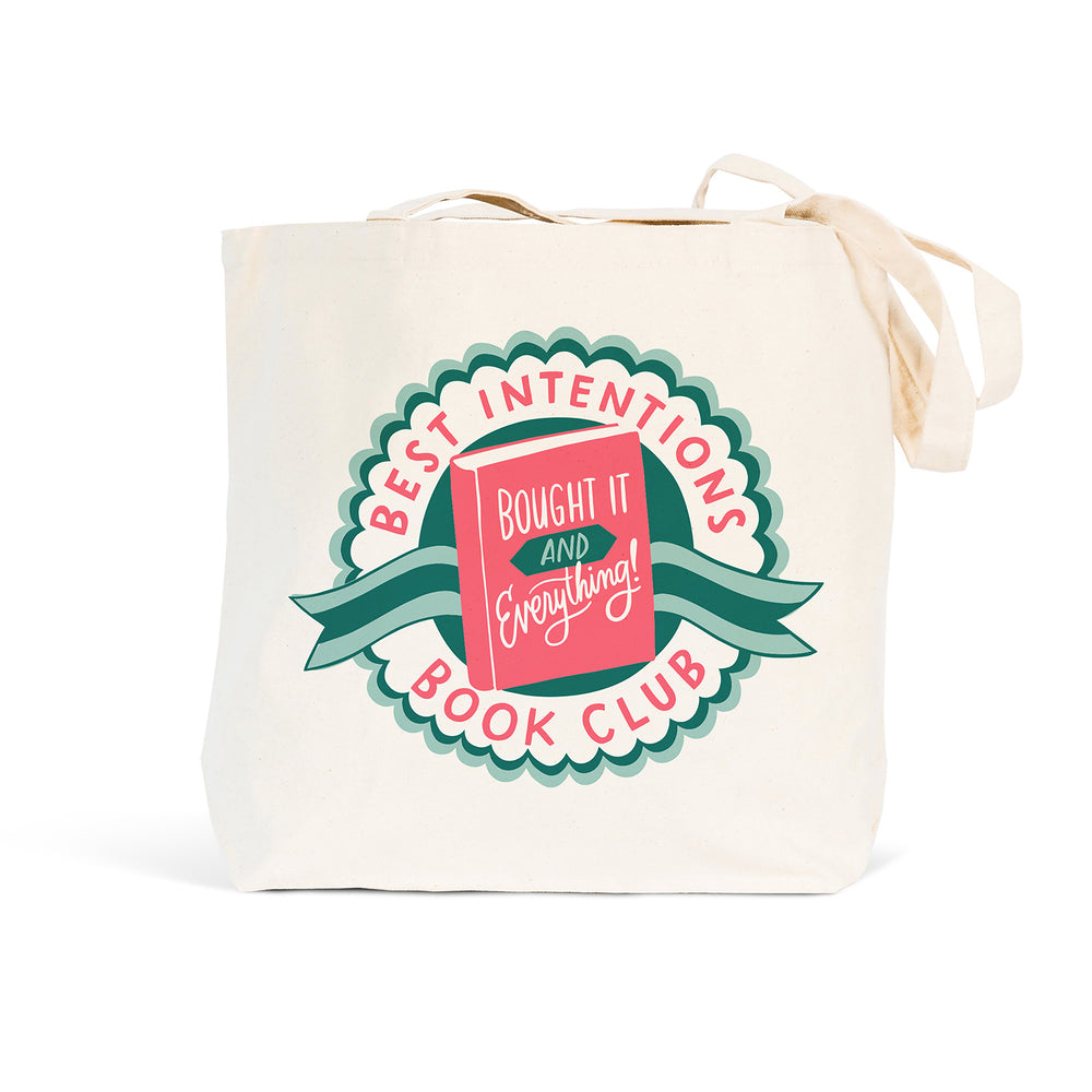 Emily McDowell & Friends Book Club White Tote Bag