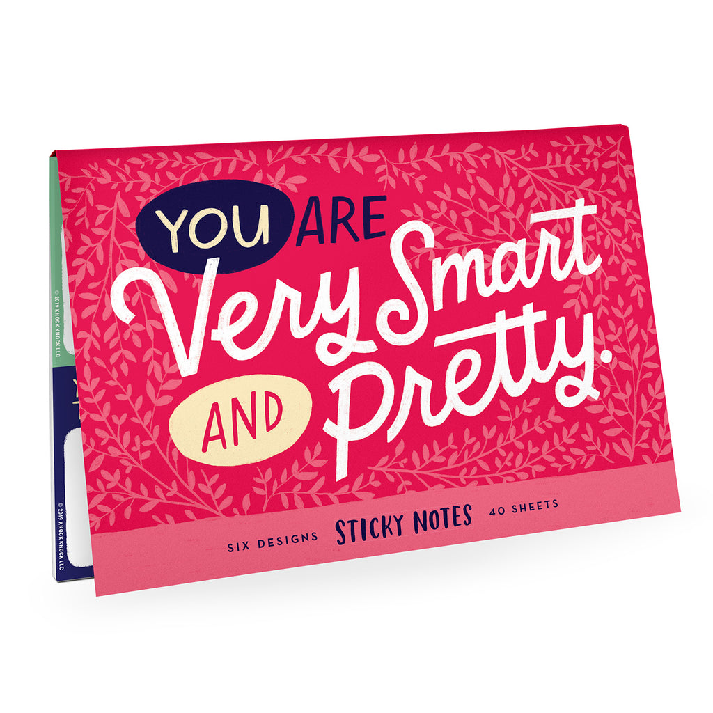 You Are Very Smart and Pretty Sticky Note Packet