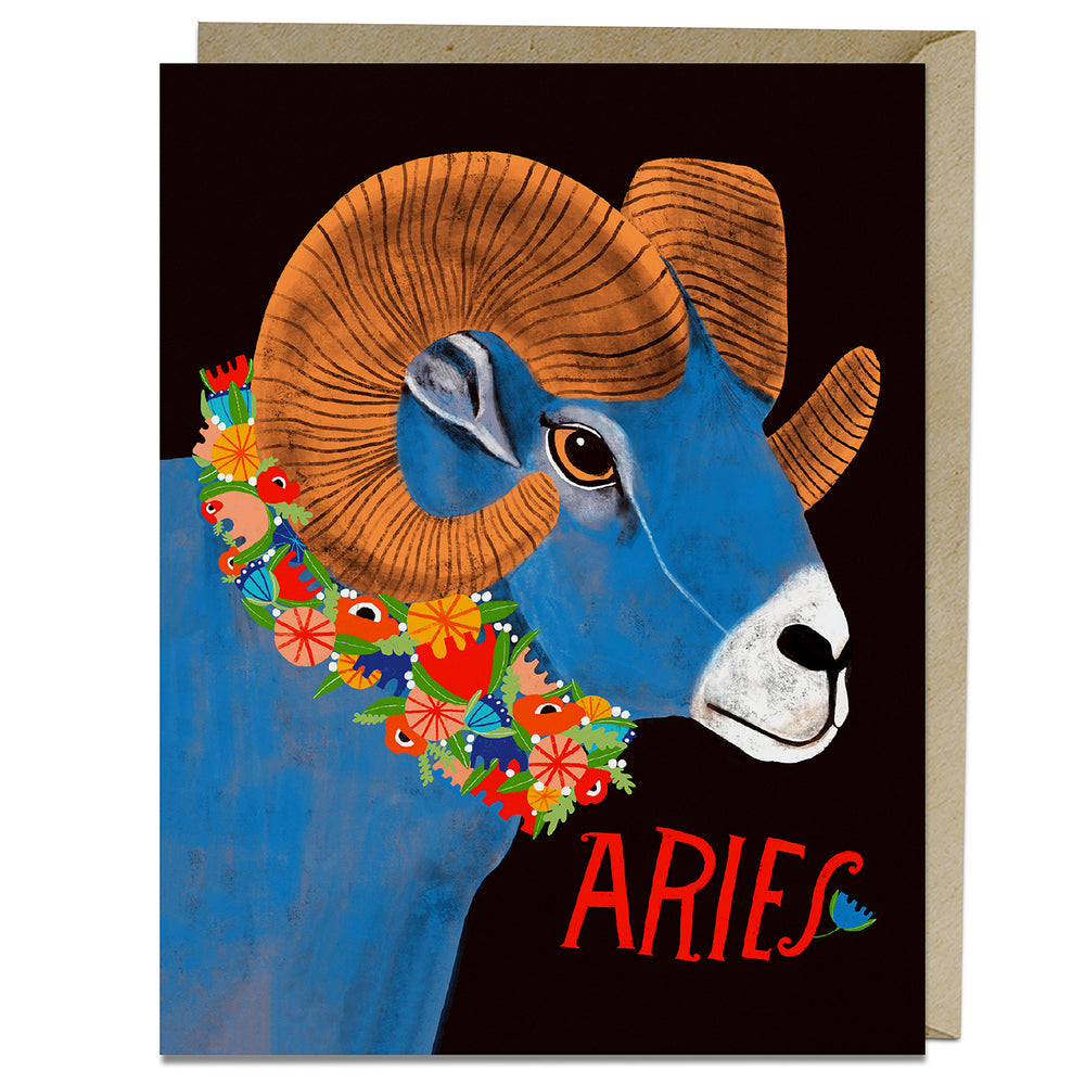 Aries themed birthday card from Emily McDowell & Friends