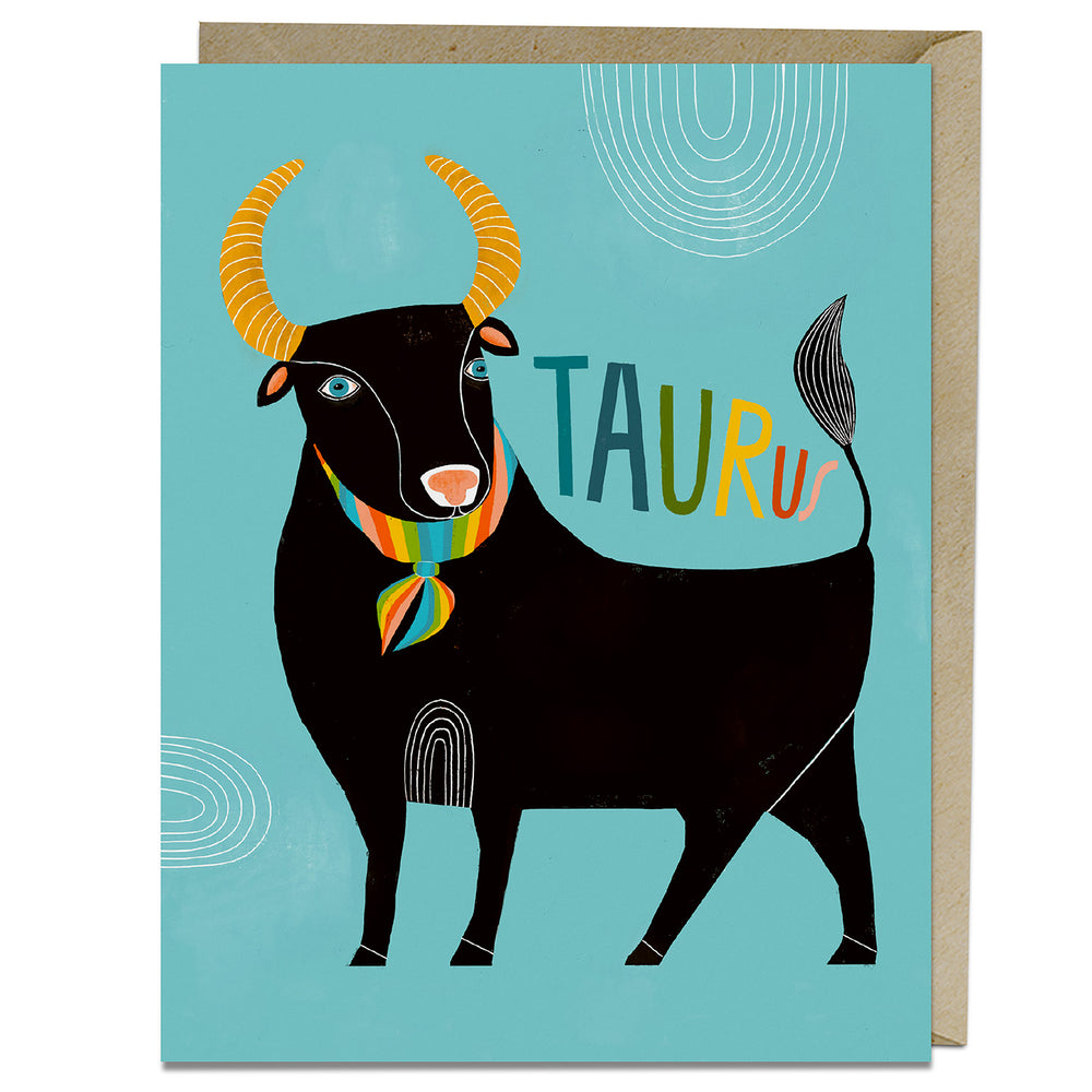 Taurus themed zodiac card from Emily McDowell & Friends