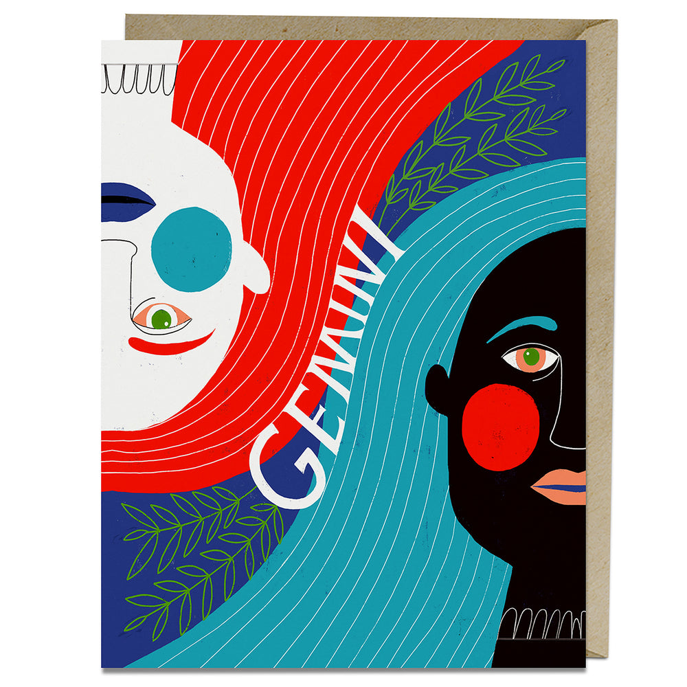 Gemini themed birthday card from Emily McDowell & Friends