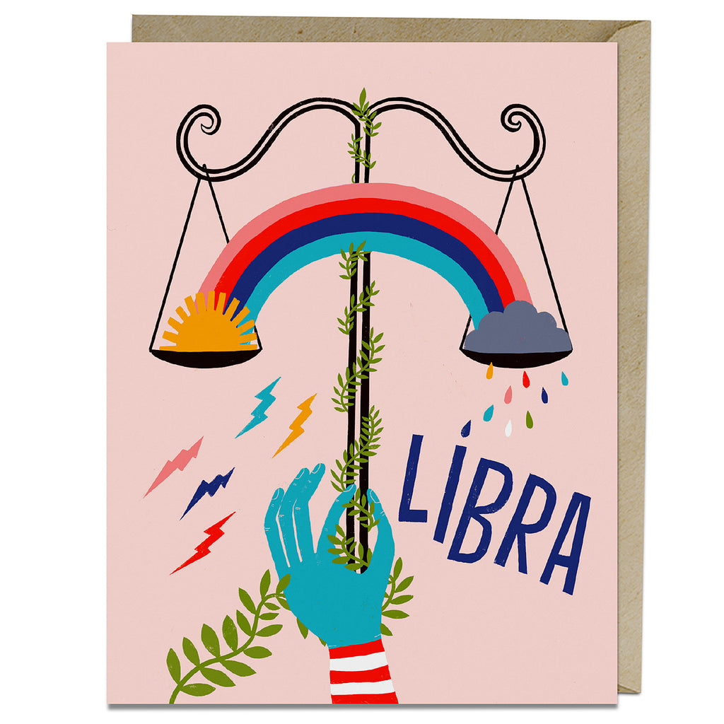 Libra themed birthday card from Emily McDowell & Friends