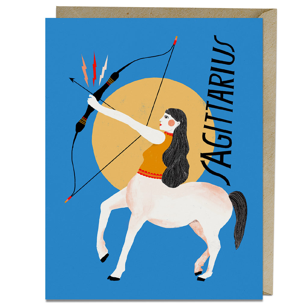Sagittarius themed birthday card from Emily McDowell & Friends