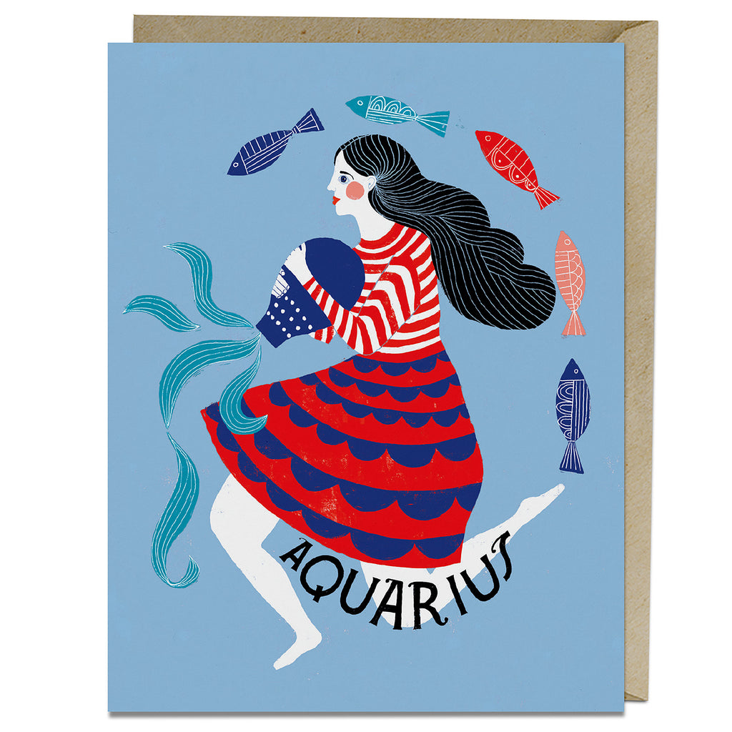 Aquarius themed birthday card from Emily McDowell & Friends