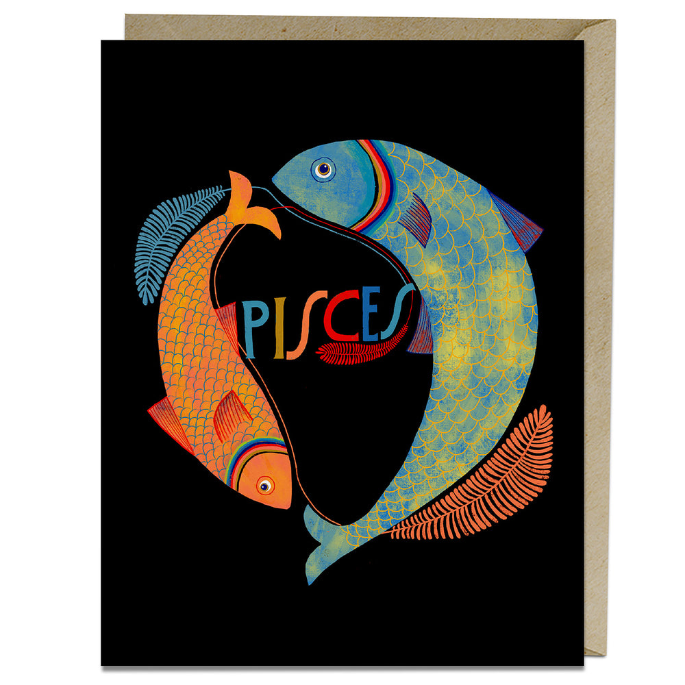 Pisces themed birthday card from Emily McDowell 7 Friends