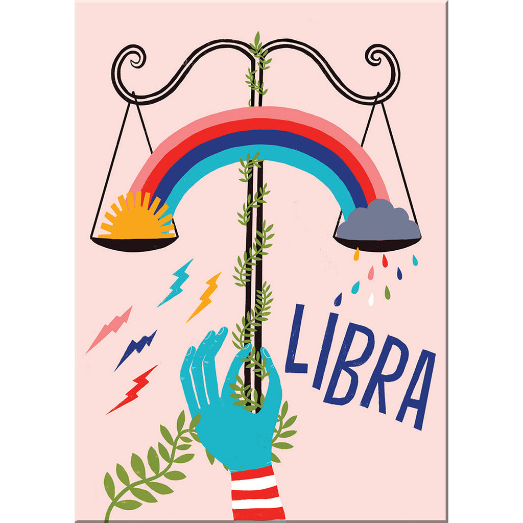 Libra zodiac magnet from Emily McDowell & Friends