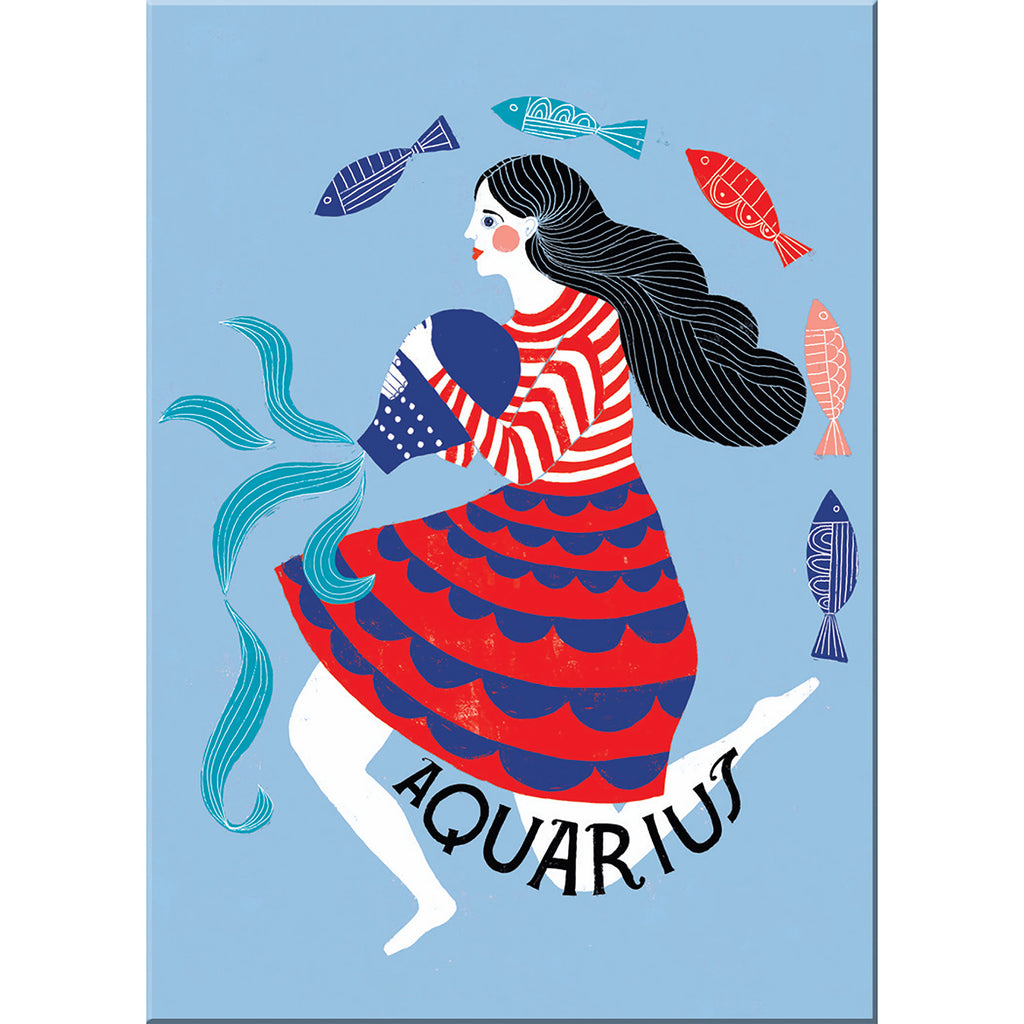 Aquarius fridge magnet from Emily McDowell & Friends