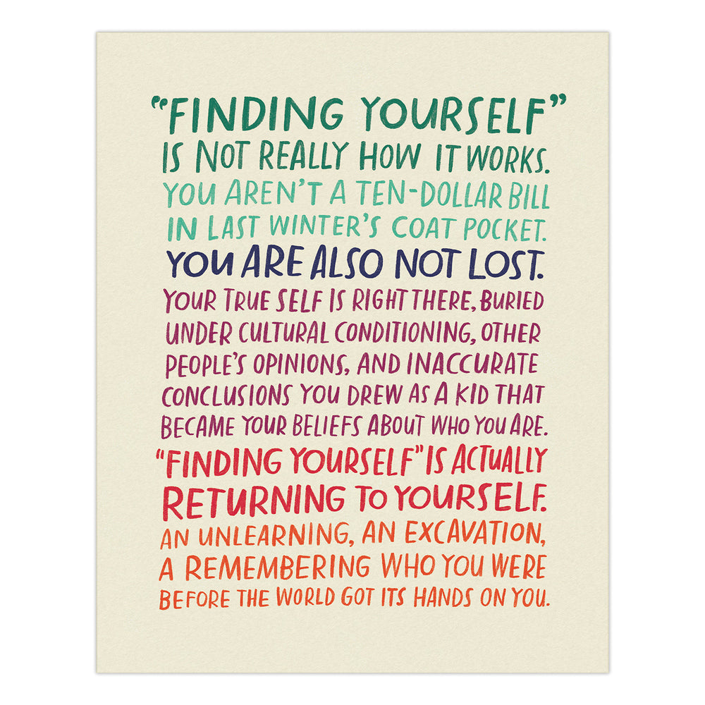 Finding Yourself Print: 8 x 10