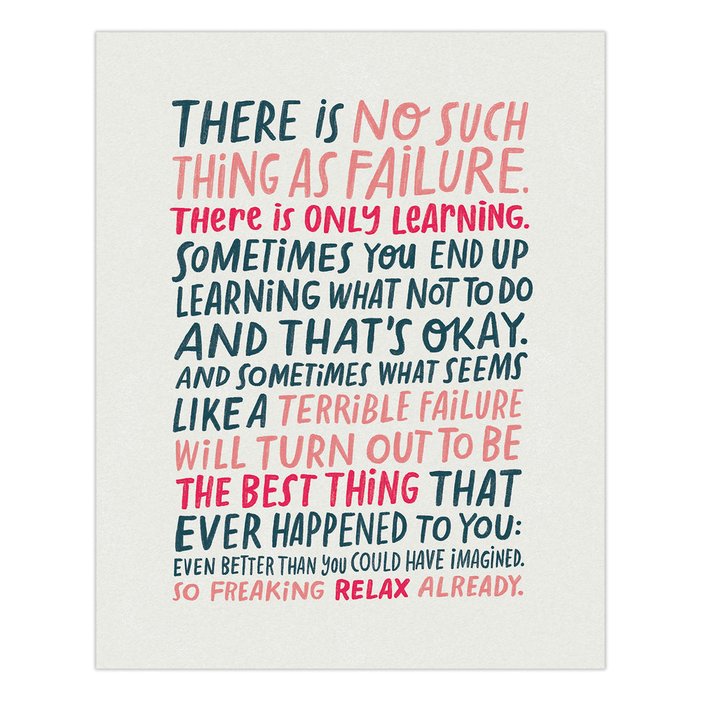 On Failure art print from Emily McDowell & Friends