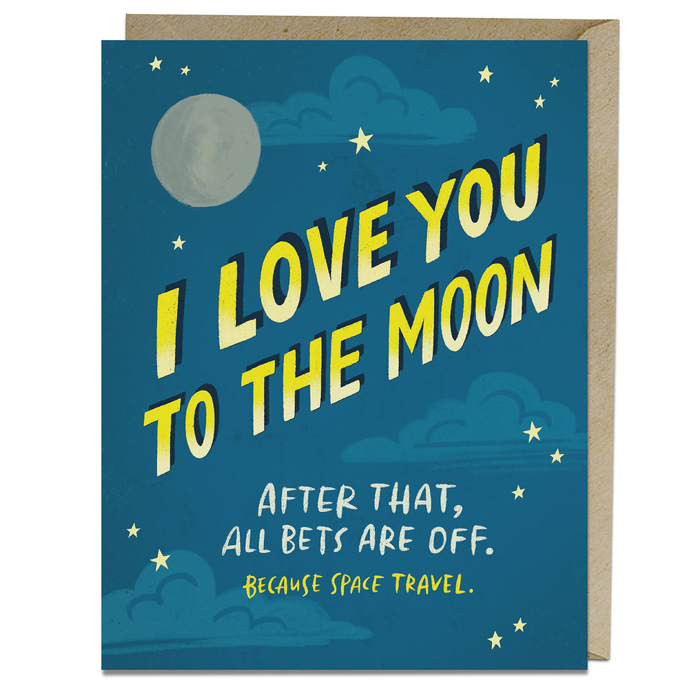 To The Moon Love Card