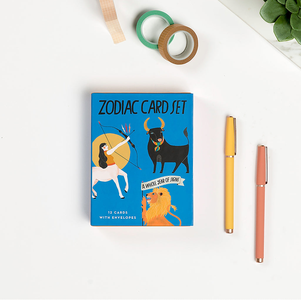 Zodiac Cards, Box of 12 Assorted