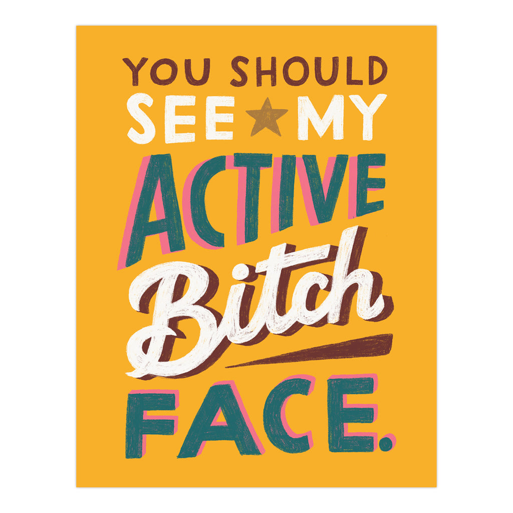 Active Bitch Face Sticker