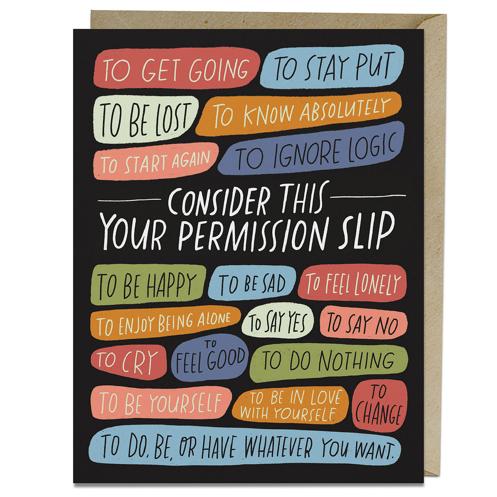 Permission Slip Card