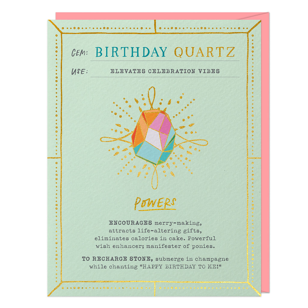 Birthday Quartz Fantasy Stone Card (No Pin)