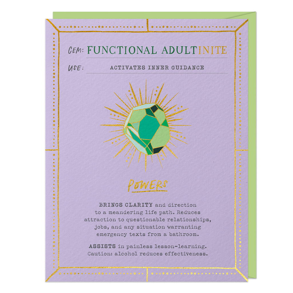 Functional Adult Fantasy Stone Card (No Pin)