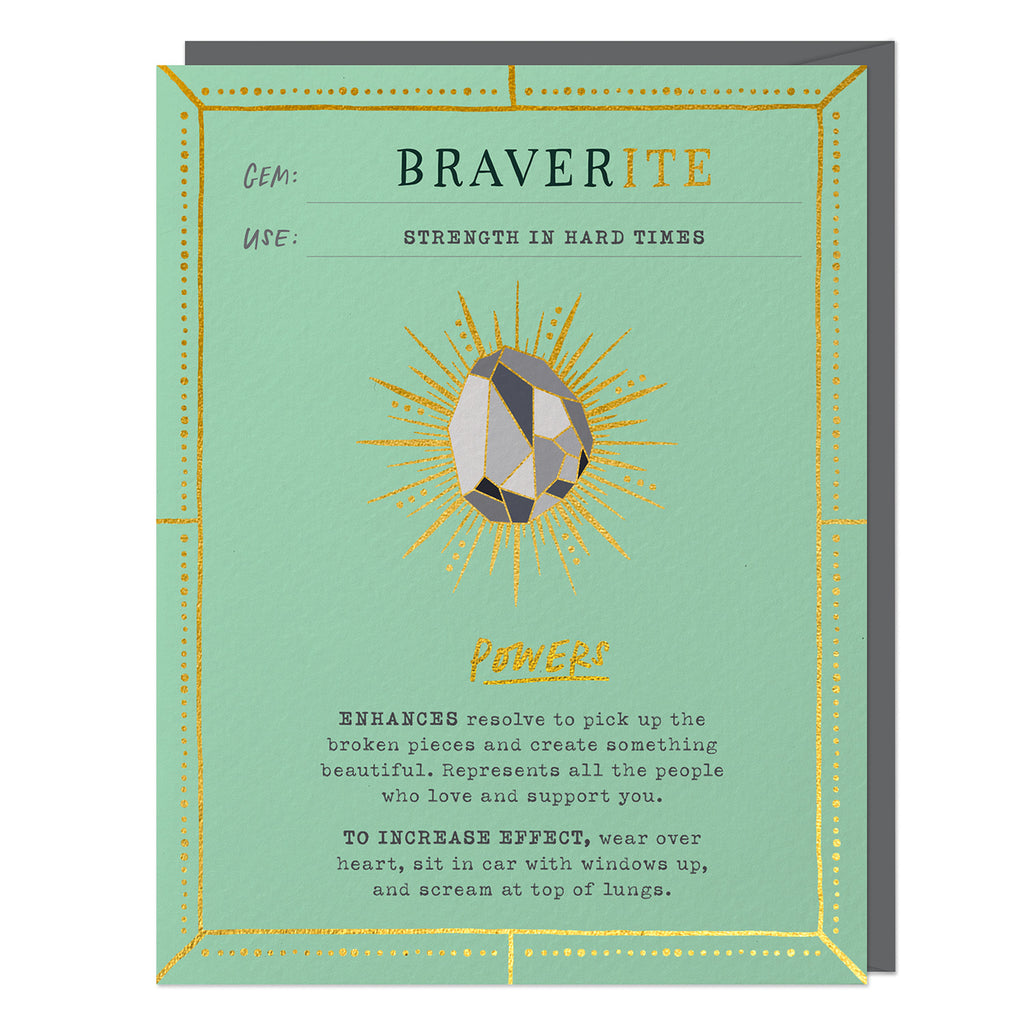Braverite Fantasy Stone Card (No Pin)