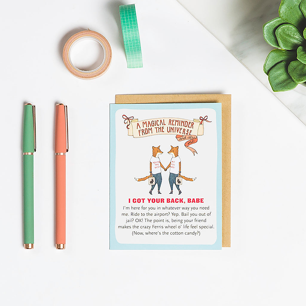Got Your Back Affirmators!® Greeting Card