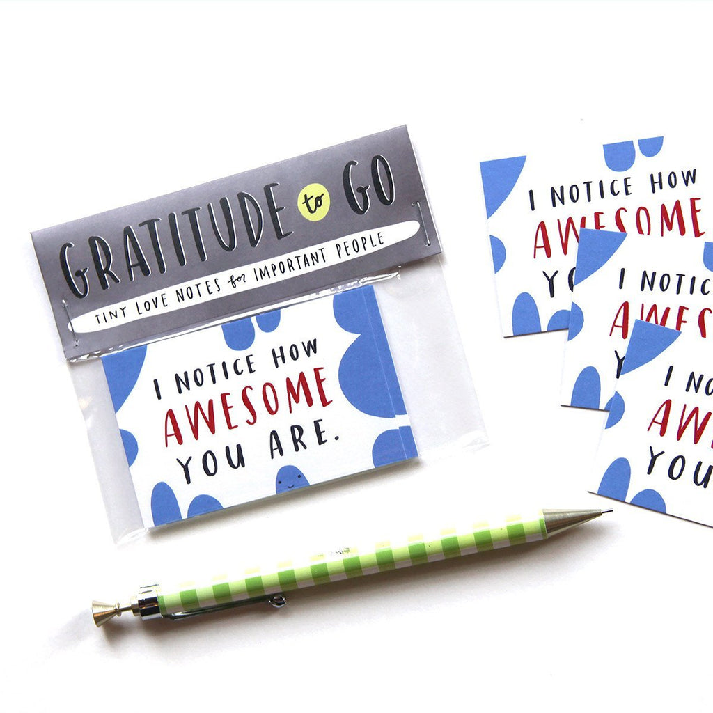 I Notice How Awesome You Are: Set of 10 Tiny Cards