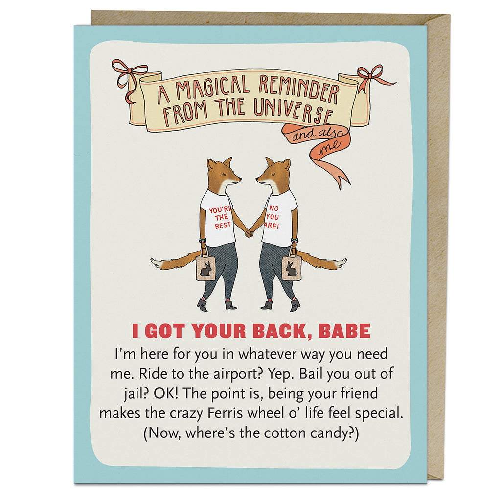 Emily McDowell & Friends Got Your Back Affirmators! Greeting Card