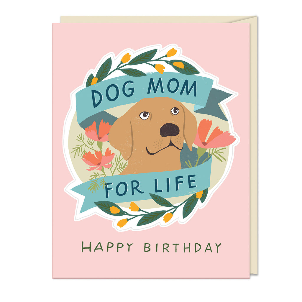 Emily McDowell & Friends Dog Mom for Life Birthday Sticker Card