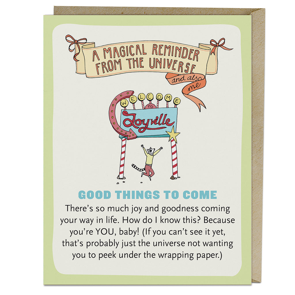 Emily McDowell & Friends Good Things to Come Affirmators! Greeting Card
