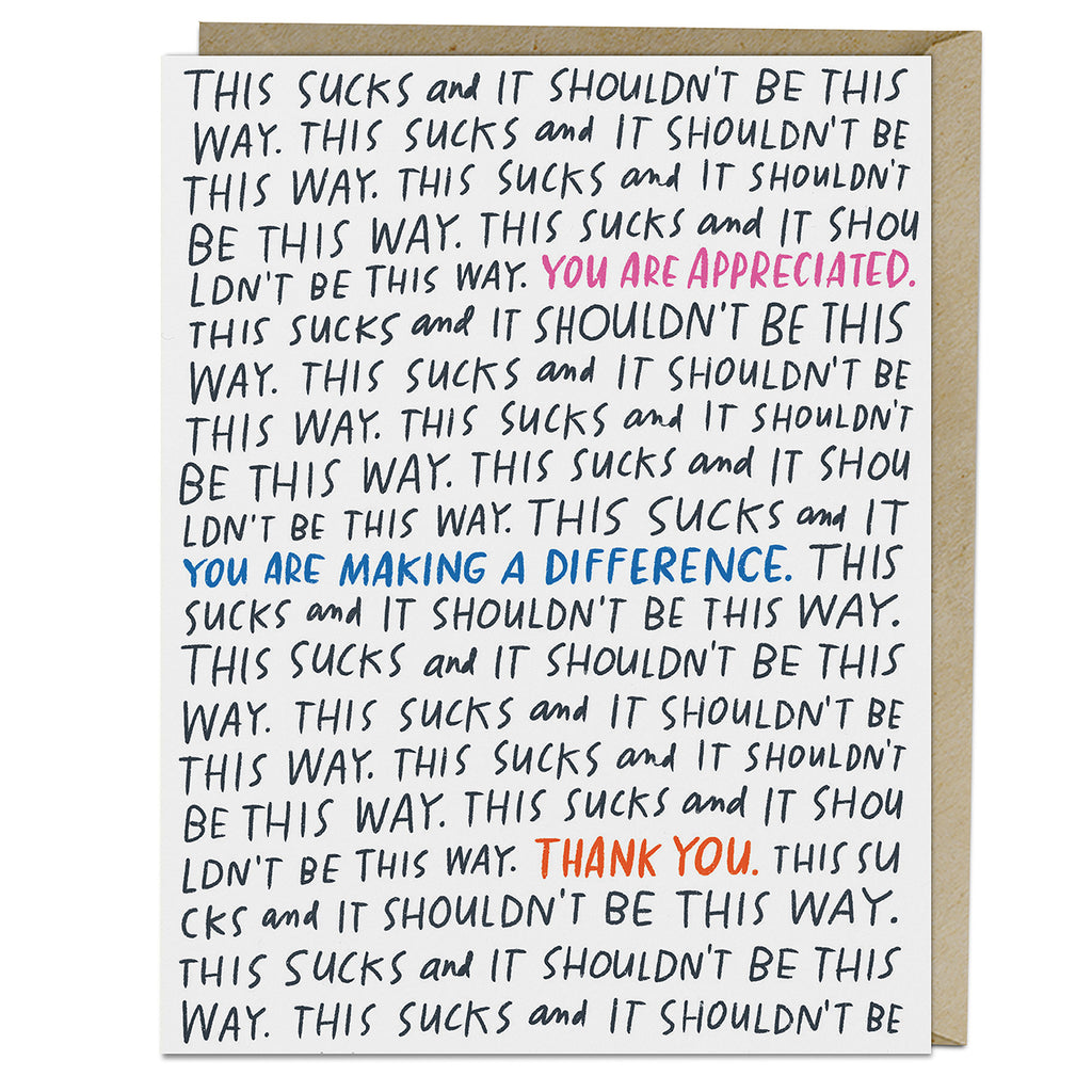 Emily McDowell & Friends It Shouldn't Be This Way Card
