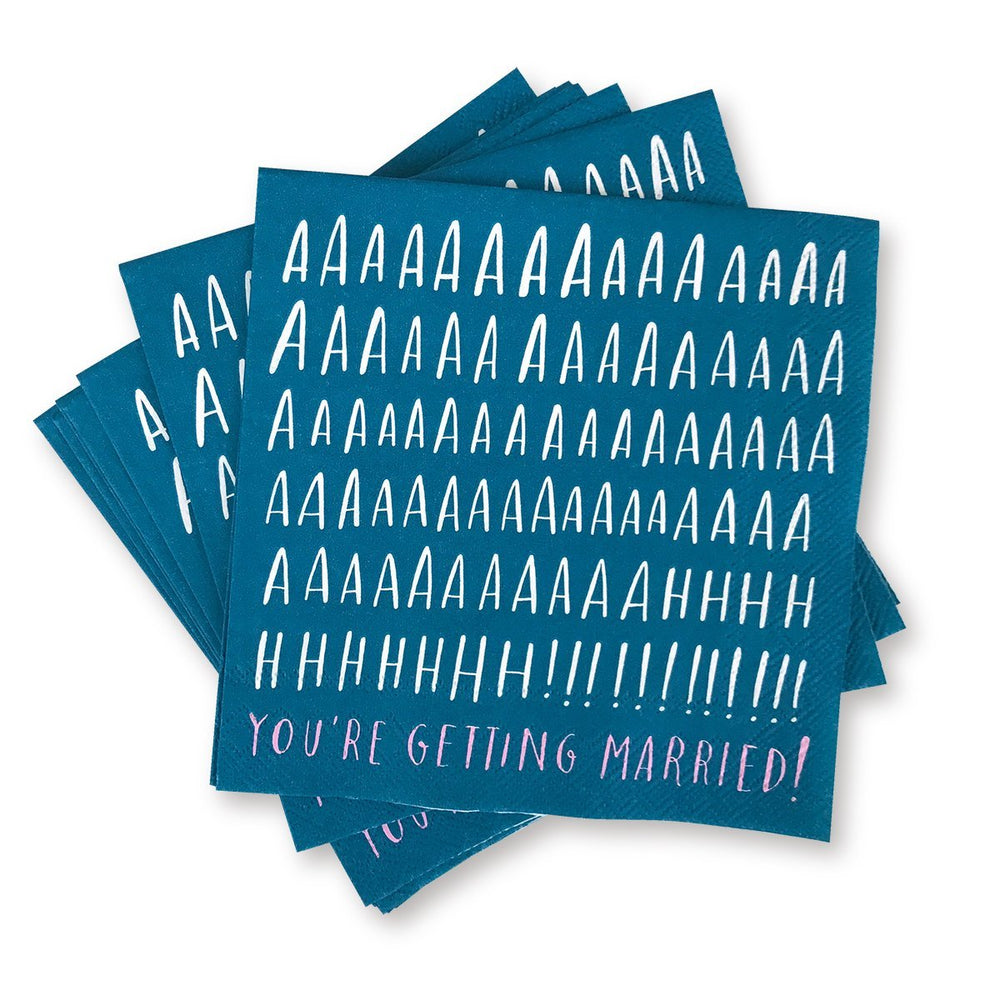 Cocktail Napkins - AHHH You're Getting Married