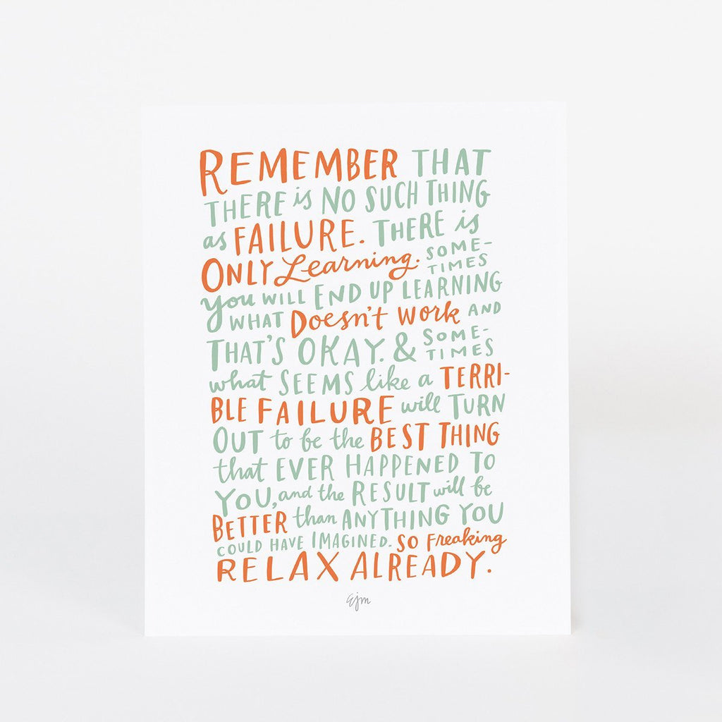 On Failure Print: 8 x 10