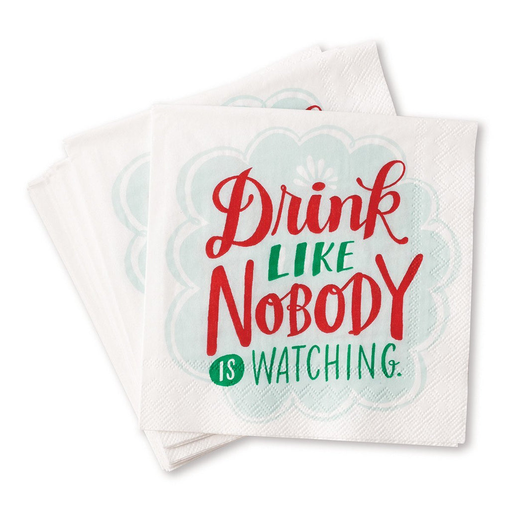 Cocktail Napkins - Drink Like Nobody is Watching