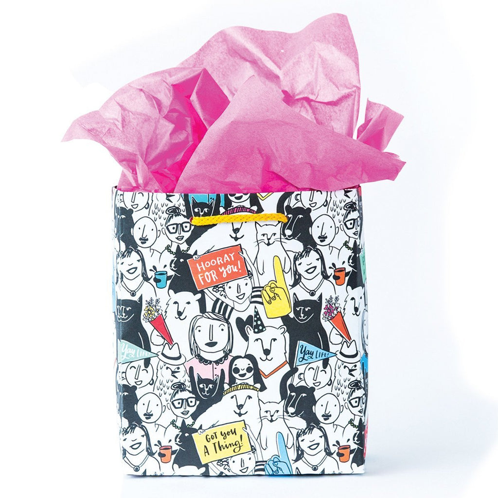 Animal Crowd Gift Bag