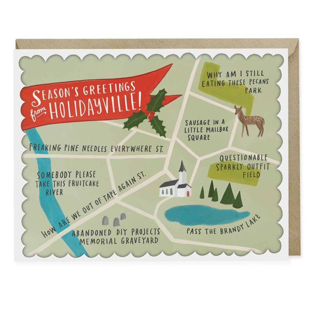 Emily McDowell Holidayville Holiday Greeting Card