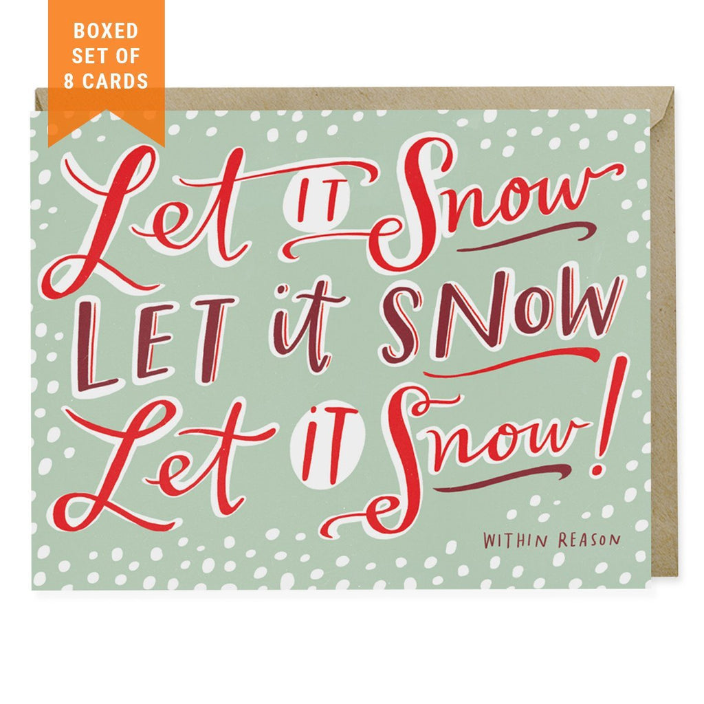 Let it Snow Box Set of 8 Holiday Cards