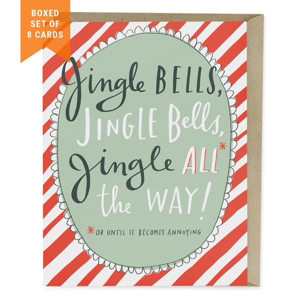 Boxed 8 Cards: Jingle Bells Holiday