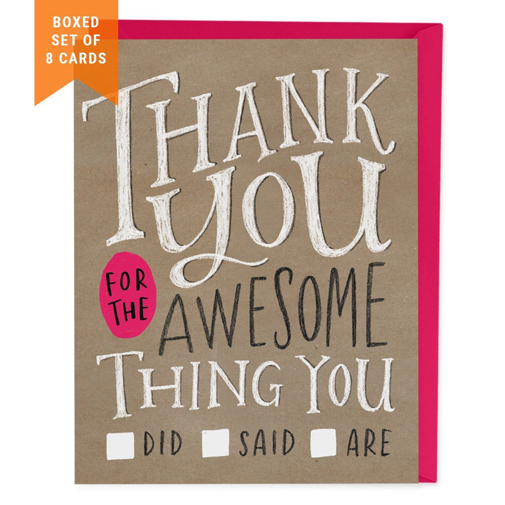 Check Box Thank You Card - Box of 8
