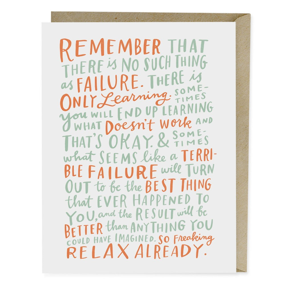 On Failure Encouragement Card