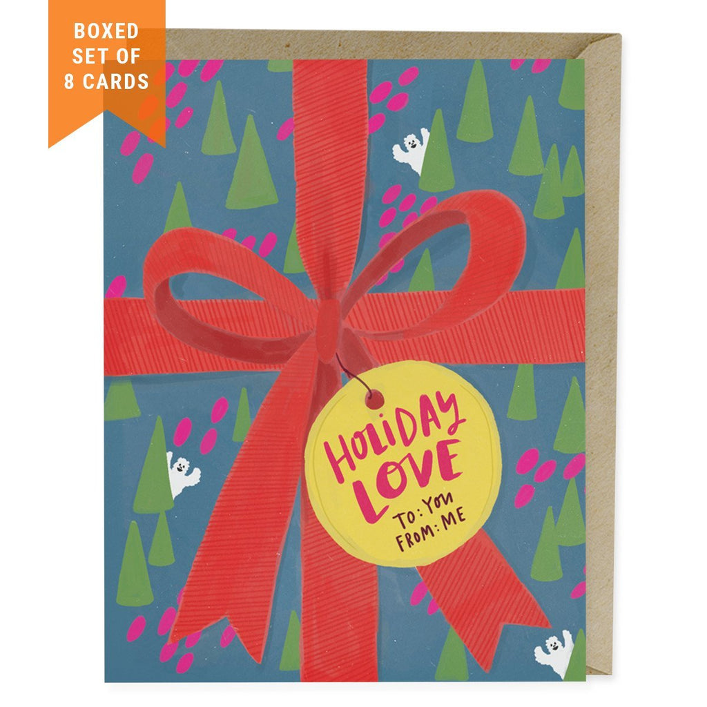 Gift Wrap Holiday Card, Box of 8