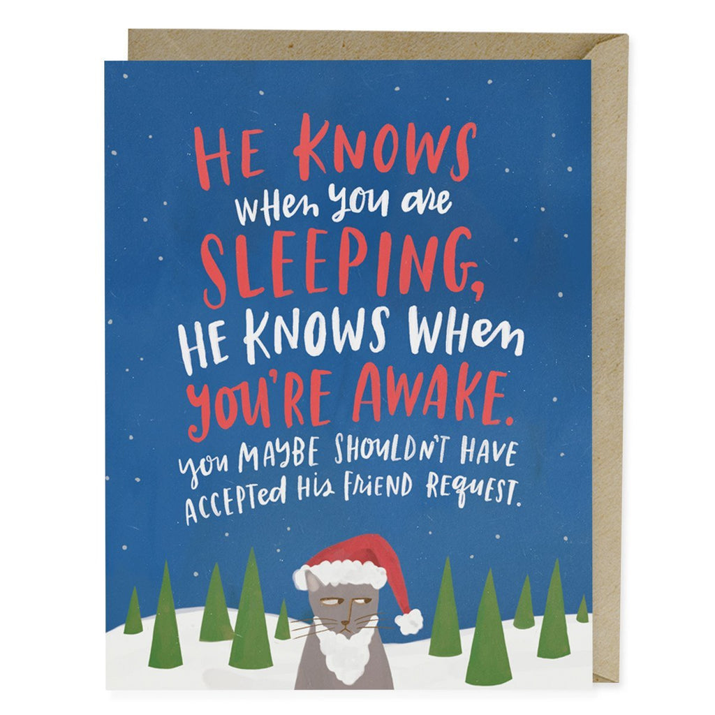 He Knows Holiday Card
