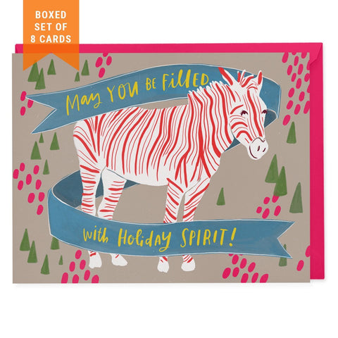 Boxed greeting cards holiday thank you cards emily mcdowell studio set of 8 holiday cards spirit zebra m4hsunfo