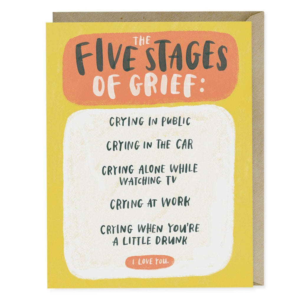 Empathy Card: Five Stages of Grief