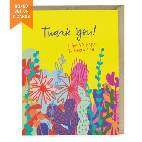 Boxed greeting cards holiday thank you cards emily mcdowell studio happy to know you thank you box of 8 m4hsunfo