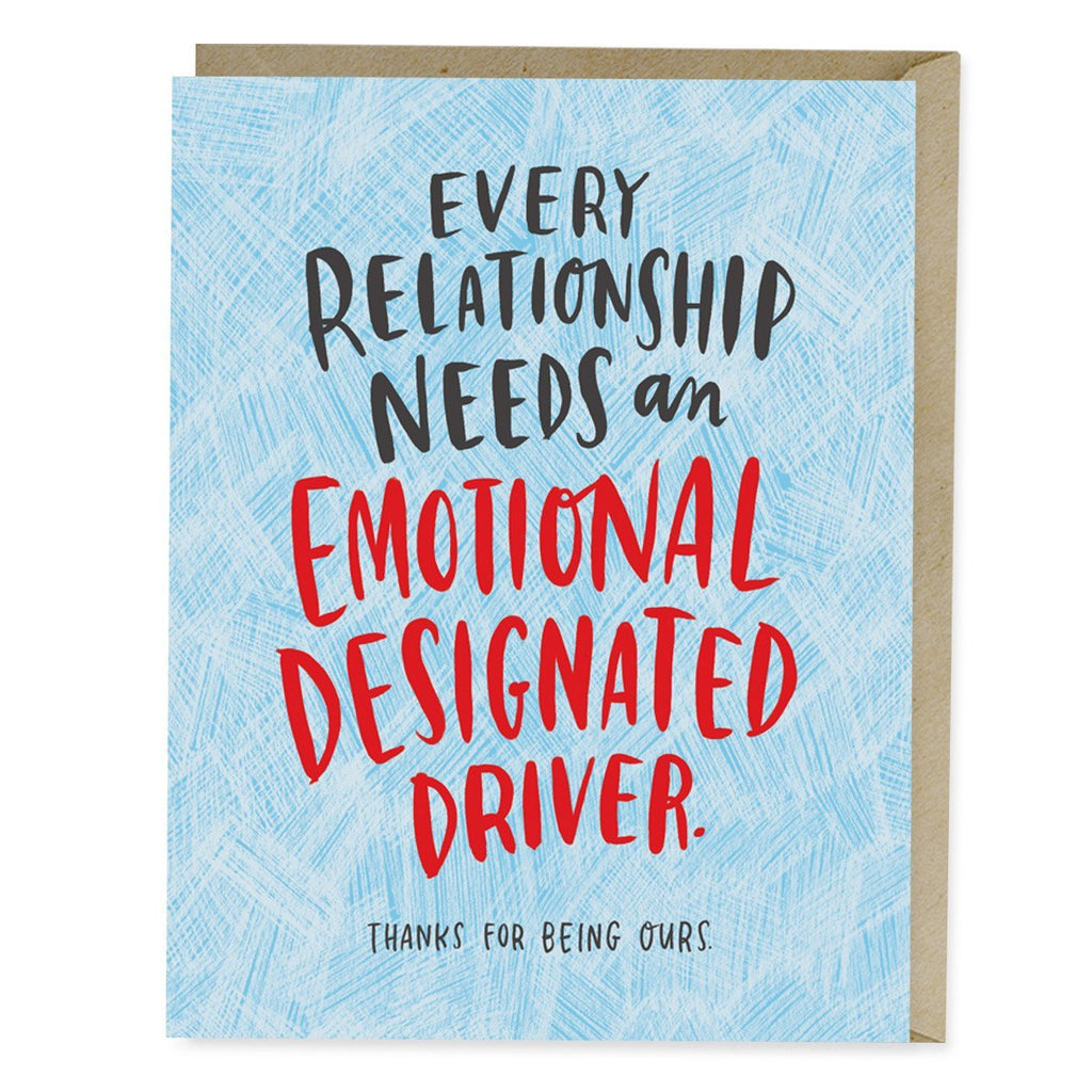 Emotional Designated Driver Card
