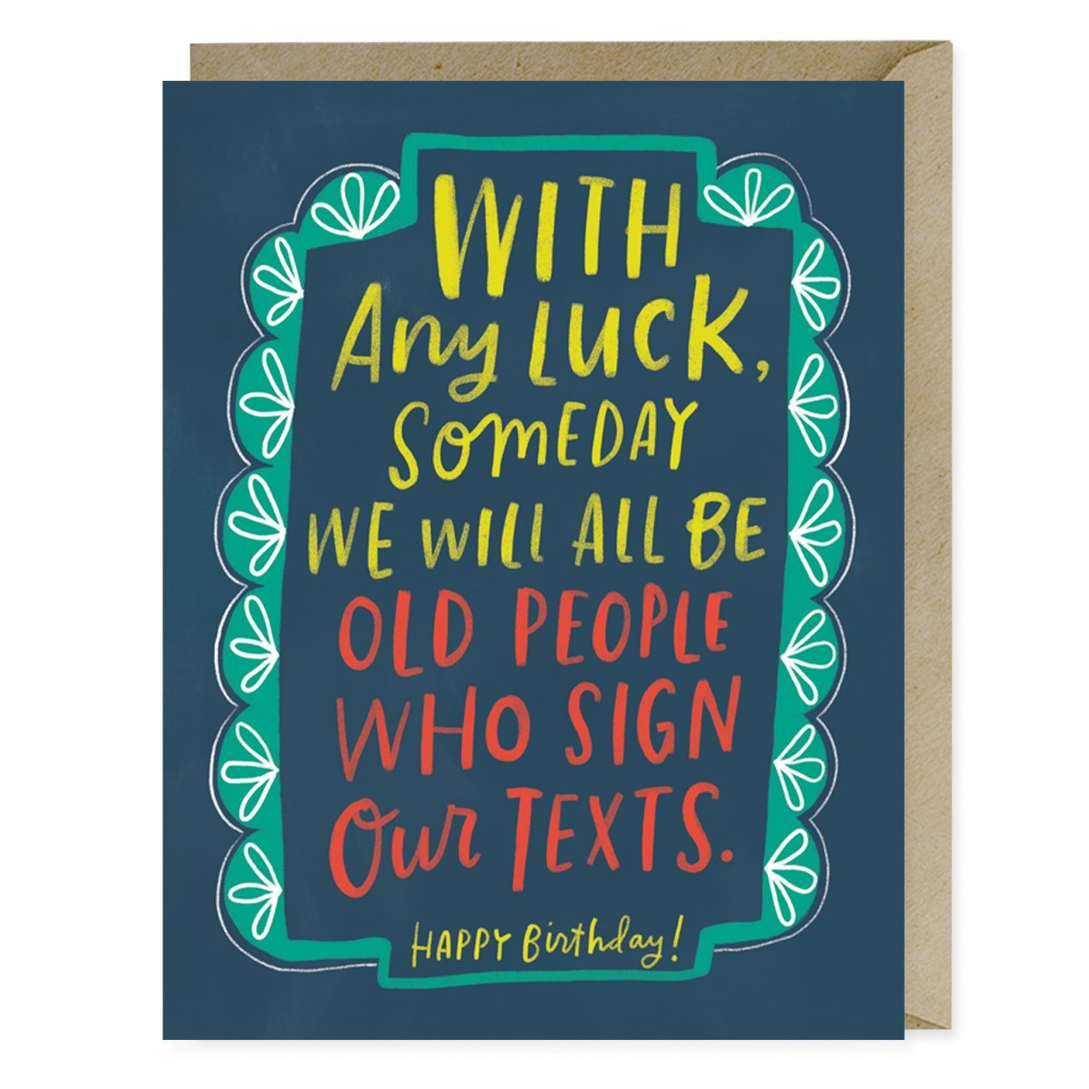 Sign Texts Birthday Card