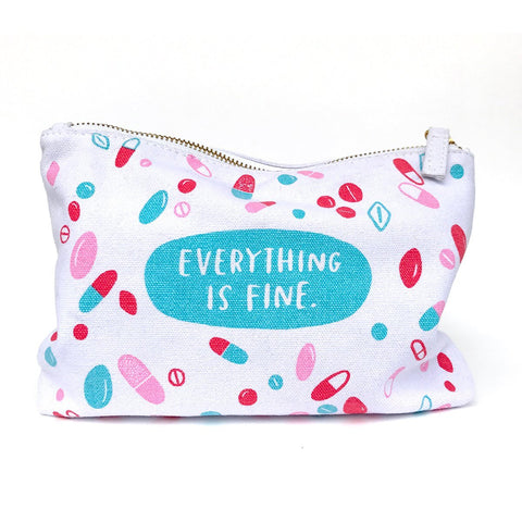 Everything is Fine - Canvas Pouch with Pills