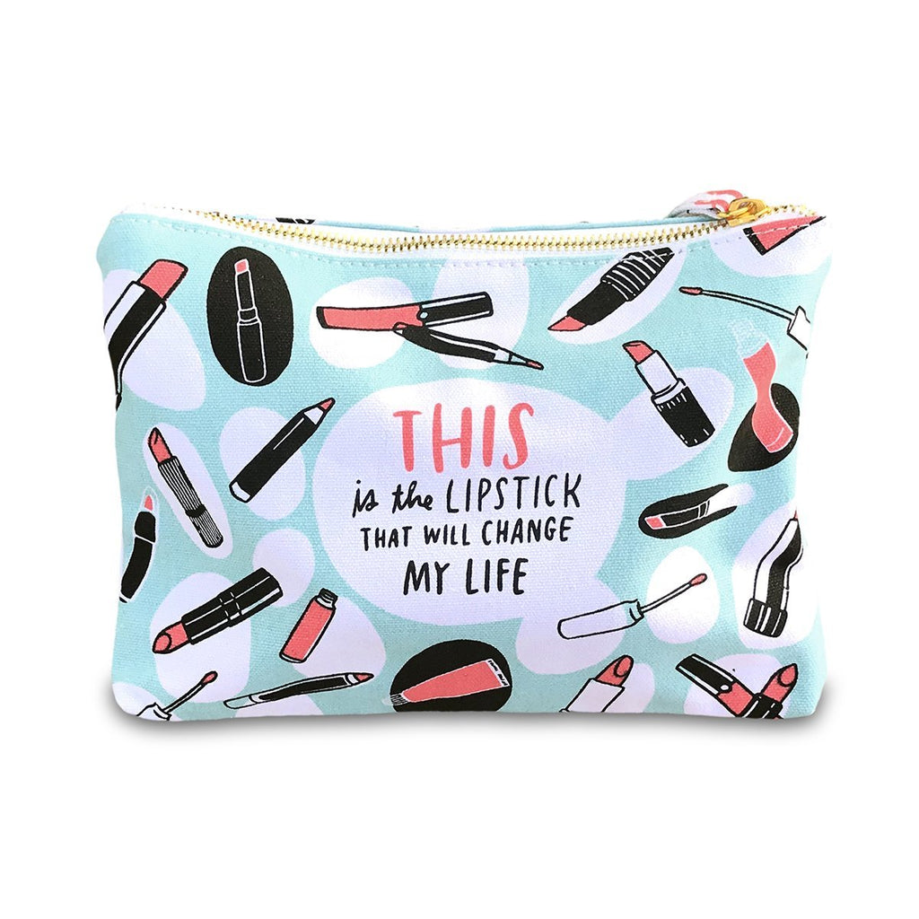 Canvas pouch - This Lipstick Will Save My Life