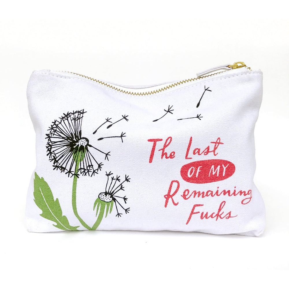 Canvas Pouch - Last of My Remaining Fucks