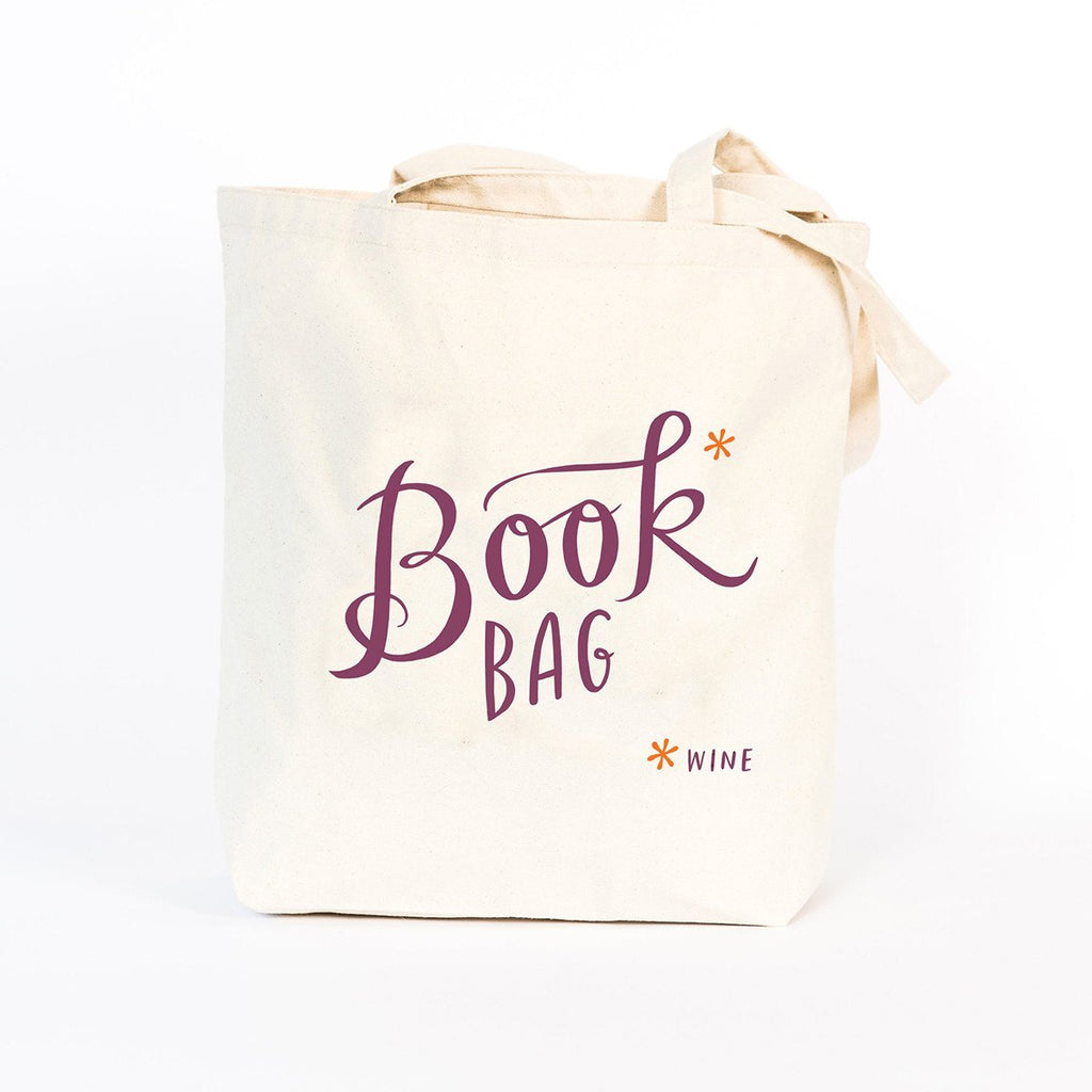 Tote Bag - Book Wine Bag