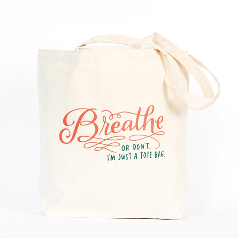Canvas Tote Bag - Breathe